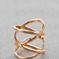 MARFA DOUBLE CROSSED MIDI RING