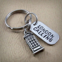 London Calling - British Phone Booth Keychain