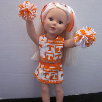 American Girl University of Tennessee Cheer Outfit By Sweetpeas Bows & More