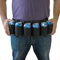 Beer Belt 6 Pack Holster Beer Soda Can Holster Belt Holds 6 Beverages