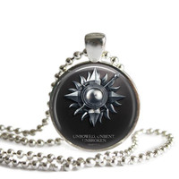 Game of Thrones Necklace House of Martell Unbowed Unbent Unbroken