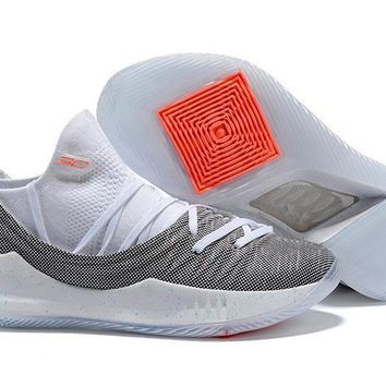 Under Armour SC30 Stephen Curry 5 Low Gray White Basketball Shoe 7e8cc7112