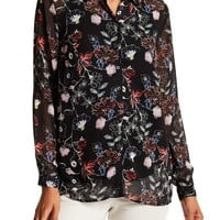 Philosophy Apparel | Long Sleeve Floral Print Blouse | Nordstrom Rack