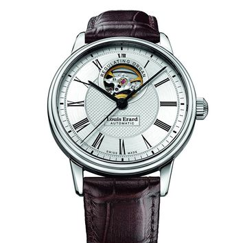 Louis Erard Heritage Collection Skeleton Swiss Automatic Silver Dial Men's Watch 60266AA41.BDC2