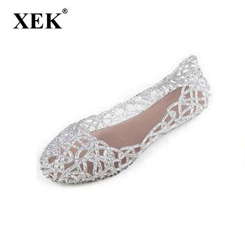 Summer women sandals breathable shoes crystal jelly nest crystal sandals female flat sandal shoes woman