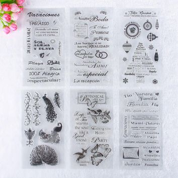 Simple Pattern Girls Baby English Letters Transparent Rubber Stamp Seal DIY Album Craft Scrapbooking Decoration #230821
