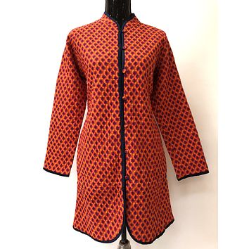 Reversible full Sleeves Quilted Cotton Jacket