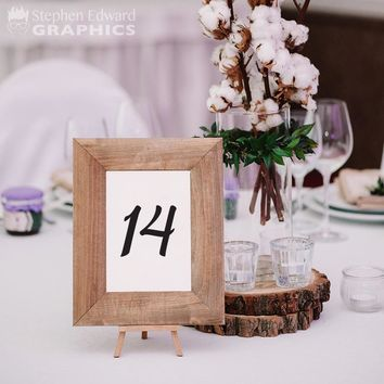 Wedding Table Number Decals - Wedding Decor - Table Number Stickers