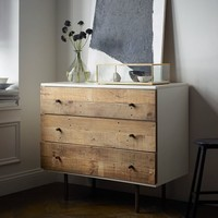 Reclaimed Wood + Lacquer 3-Drawer Dresser