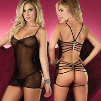 On Sale Hot Deal Cute Transparent Sexy Backless Sleepwear Skirt Exotic Lingerie [6594650179]