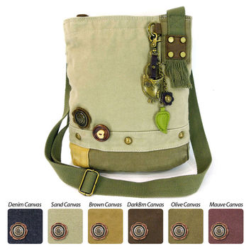 Chala Patch Crossbody Bag (6 colors option) + Detachable Metal Keychain (Owl)