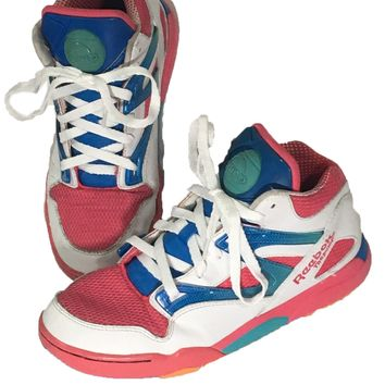 Reebok The Pump Basketball Sneakers Shoes Omni Lite Pink Blue Womens 5.5 EUR 37 - Preowned