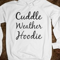 Supermarket: Cuddle Weather Hoodie from Glamfoxx Shirts