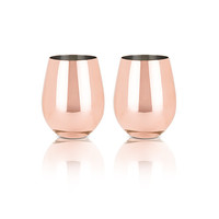 Copper Stemless Wine Glasses