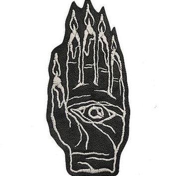 Hand Burner Large Leather Patch