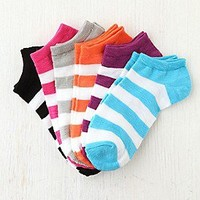 Striped Anklet 6 Pack at Free People Clothing Boutique