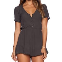 Tularosa Saturn Romper in Charcoal
