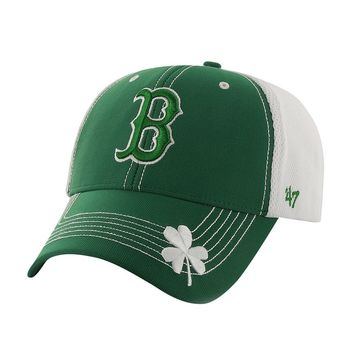 '47 Brand Boston Red Sox St. Patrick's Day Flux MVP Adjustable Baseball Cap - Adult, Size: One Size (Green)
