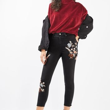 PETITE Embroidered Jamie Jeans | Topshop