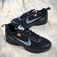 OFF WHITE x Nike Air Max 97 30th Sport Running Shoes Black - Best Online Sale