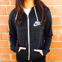nike gym vintage zip up hoodie jacket-2