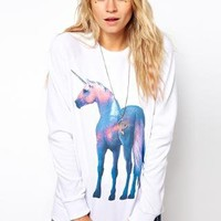 ASOS Sweatshirt with Shiny Unicorn
