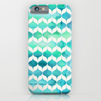 Ocean Rhythms and Mermaid's Tails iPhone & iPod Case by Micklyn