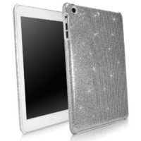BoxWave Apple iPad mini Glamour & Glitz Case - Sleek Form-Fitting Protective Shell Case w/ Sparkly Glitter Design - iPad mini Cases and Covers (Silver Sparkles)