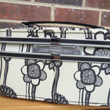 Samsonite Fashionaire Luggage Train Case Vintage 60s Mod Marimekko Flowers Key