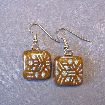 Brown Earrings, Dangle Earrings, Hypoallergenic Earings, Brown Jewelry - Westwood - 1854 -3