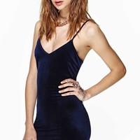 Nasty Gal Villainous Velvet Slip Dress