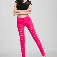 Womens Stylish Thin Pencil Jeans