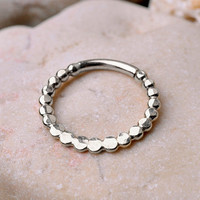 SEPTUM RING / EAR /Cartilage Sterling Silver. Handcrafted .