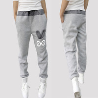 Women Joggers Autumn Capris 2017 Harem Pants Women Pants Casual Sweatpants Loose Pant Cartoon Rabbit Trousers Ladies Pants