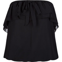 MISS CHIEVOUS Chiffon Ruffle Womens Tube Top
