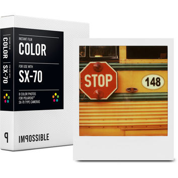 Impossible Project Color Film for Polaroid sx 70 sx70 Type Camera Cameras
