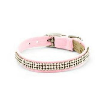 Giltmore 3 Row Collar — Puppy Pink