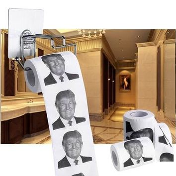 New Donald Trump Smile 2/3ply 150 Sheets Toilet Paper Roll Novelty Funny Gag Gift (Size: 2) [8834065868]