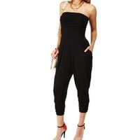 Black Harem Pants Jumpsuit