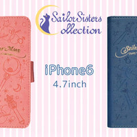 Strapya World : Sailor Moon Emboss Diary Type Flip Case for iPhone 6 (External Solar System Warriors)