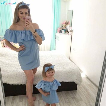 Family Matching Outfits Mommy and Me Mother Daughter Dresses Fas ebae0bb3ac98