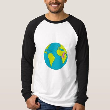Marathon Runner Running South America Africa Drawi T-Shirt