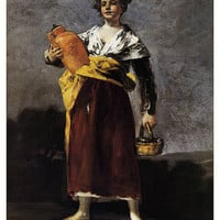 Francisco Goya (1746-1828) Vintage Postcard «The Water Carrier» - Printed in the USSR, «Fine Art», Moscow, 1971