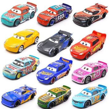 Disney Pixar Cars 3   New Lightning McQueen Jackson Storm Cruz Ramirez Diecast Metal Car Model Birthday Gift Toy For Kid Boy