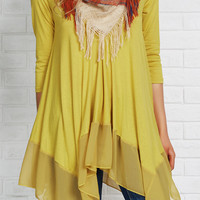 Cupshe Essence of Style Chiffon Splicing Top