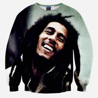 [Mikeal] Fashion music style Men's 3d sweatshirts tops print Musician Bob Marley slim casual hip hop hoodies pullovers