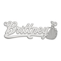Sterling Silver Disney Cinderella Nameplate Personalized Name Pendant