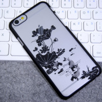 The lotus pool by moonlight mobile phone case for iPhone 6 6s + Nice gift box!