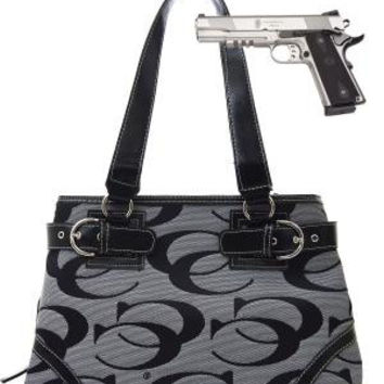 Professional Style: CC Signature Double Buckle Gun Handbag