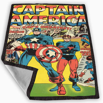 Captain America Comic Blanket for Kids Blanket, Fleece Blanket Cute and Awesome Blanket for your bedding, Blanket fleece *